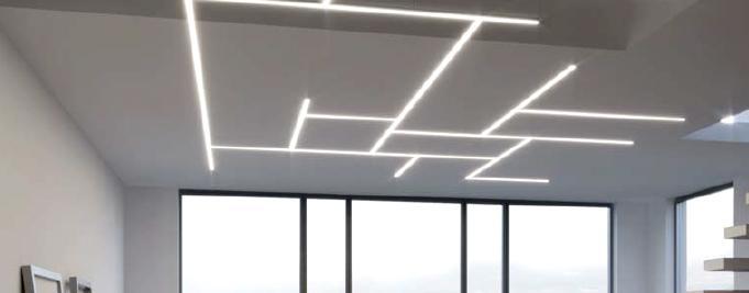 perfiles para tiras led intersecciones