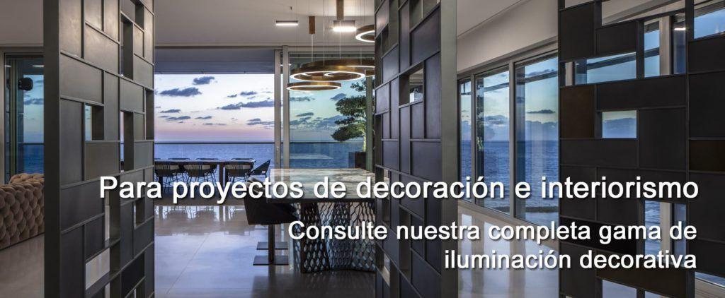 lámparas para proyectos de Iluminación decorativa